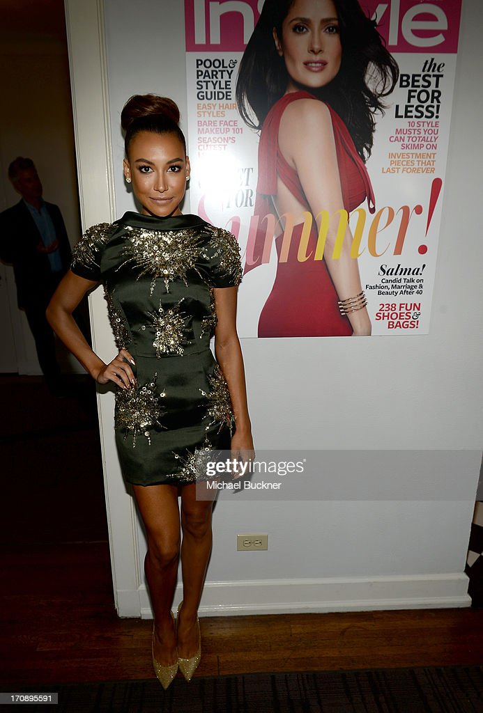 Actress Naya Rivera attends Mary-Kate Olsen, Ashley Olsen, and InStyle Editor Ariel Foxman celebrate the launch of the Elizabeth and James Fall 2013 Handbag Collection at a cocktail party held at Chateau Marmont in West Hollywood on June 19, 2013.