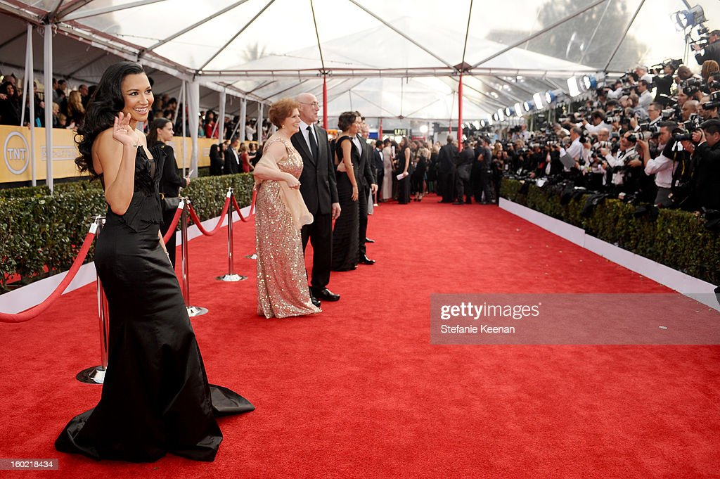 Actress <a gi-track='captionPersonalityLinkClicked' href=/galleries/search?phrase=Naya+Rivera&family=editorial&specificpeople=5745696 ng-click='$event.stopPropagation()'>Naya Rivera</a> attends the 19th Annual Screen Actors Guild Awards at The Shrine Auditorium on January 27, 2013 in Los Angeles, California. (Photo by Stefanie Keenan/WireImage) 23116_025_0942.JPG