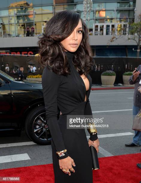 Actress Naya Rivera attends the 2013 American Music Awards at Nokia Theatre LA Live on November 24 2013 in Los Angeles California