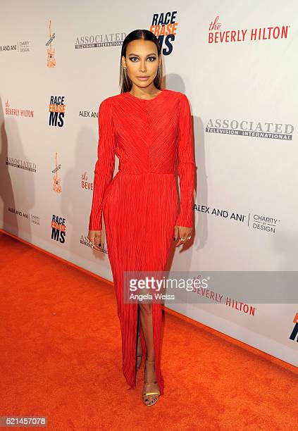 Actress Naya Rivera attends the 23rd Annual Race To Erase MS Gala at The Beverly Hilton Hotel on April 15 2016 in Beverly Hills California