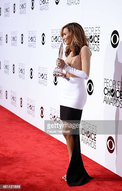 Actress Naya Rivera attends The 40th Annual People's Choice Awards at Nokia Theatre LA Live on January 8 2014 in Los Angeles California