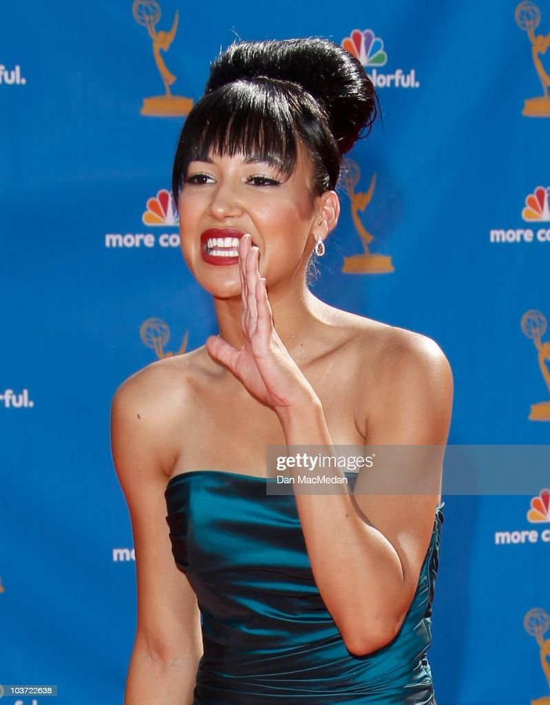 Actress Naya Rivera attends the 62nd Annual Primetime Emmy Awards at Nokia Theatre Live L.A. on August 29, 2010 in Los Angeles, California.