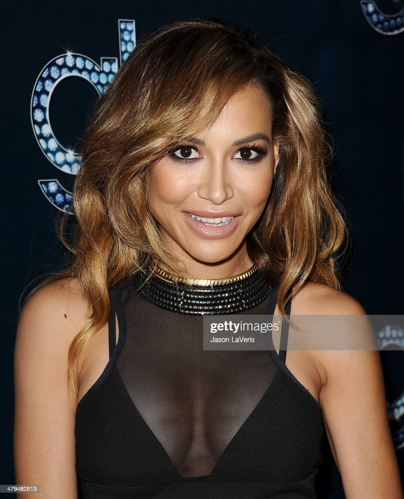 Actress <a gi-track='captionPersonalityLinkClicked' href=/galleries/search?phrase=Naya+Rivera&family=editorial&specificpeople=5745696 ng-click='$event.stopPropagation()'>Naya Rivera</a> attends the 'Glee' 100th episode celebration at Chateau Marmont on March 18, 2014 in Los Angeles, California.