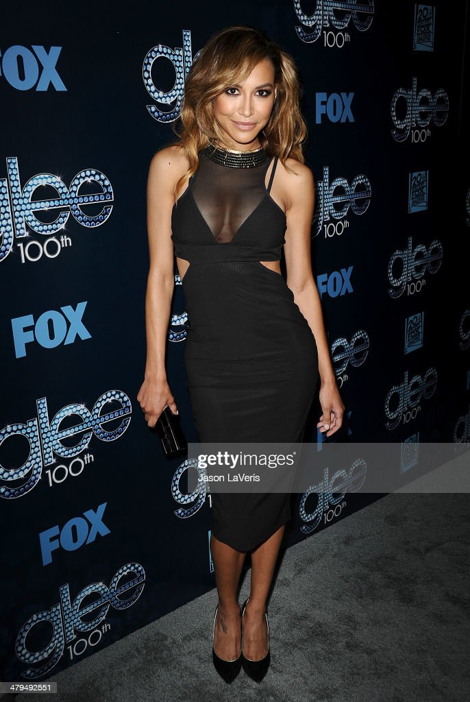Actress Naya Rivera attends the 'Glee' 100th episode celebration at Chateau Marmont on March 18, 2014 in Los Angeles, California.