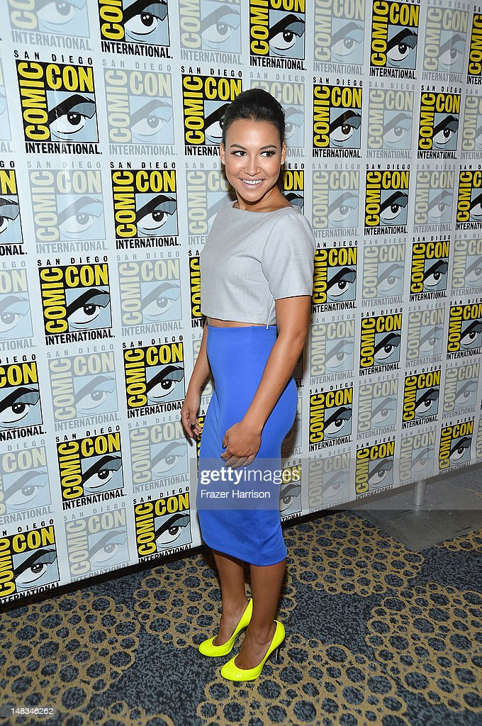 Actress <a gi-track='captionPersonalityLinkClicked' href=/galleries/search?phrase=Naya+Rivera&family=editorial&specificpeople=5745696 ng-click='$event.stopPropagation()'>Naya Rivera</a> attends the 'GLEE' Press Room during Comic-Con International 2012 held at the Hilton San Diego Bayfront Hotel on July 14, 2012 in San Diego, California.