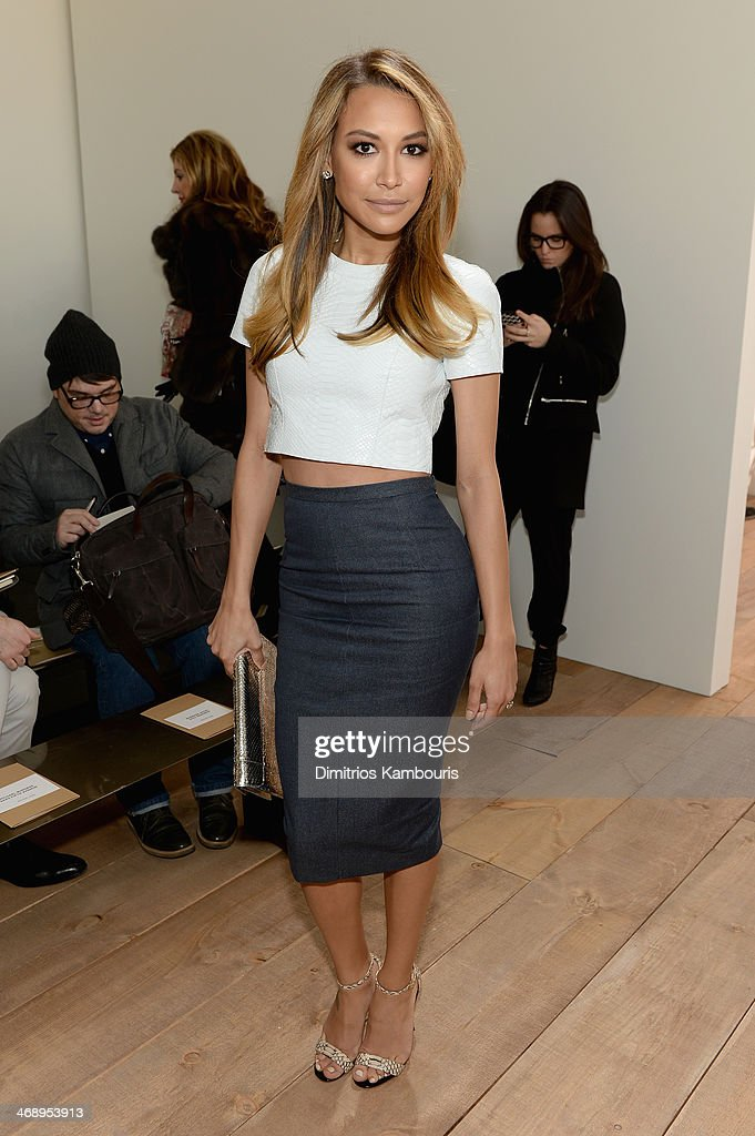 Actress Naya Rivera attends the Michael Kors fashion show during Mercedes-Benz Fashion Week Fall 2014 at Spring Studios on February 12, 2014 in New York City.