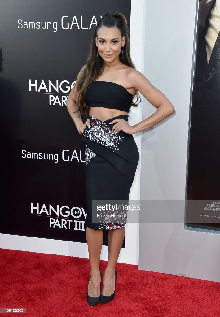 Actress <a gi-track='captionPersonalityLinkClicked' href=/galleries/search?phrase=Naya+Rivera&family=editorial&specificpeople=5745696 ng-click='$event.stopPropagation()'>Naya Rivera</a> attends the premiere of Warner Bros. Pictures' 'Hangover Part 3' at Westwood Village Theater on May 20, 2013 in Westwood, California.