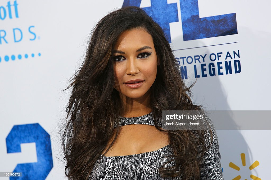 Actress <a gi-track='captionPersonalityLinkClicked' href=/galleries/search?phrase=Naya+Rivera&family=editorial&specificpeople=5745696 ng-click='$event.stopPropagation()'>Naya Rivera</a> attends the premiere of Warner Bros. Pictures' And Legendary Pictures' '42' at TCL Chinese Theatre on April 9, 2013 in Hollywood, California.