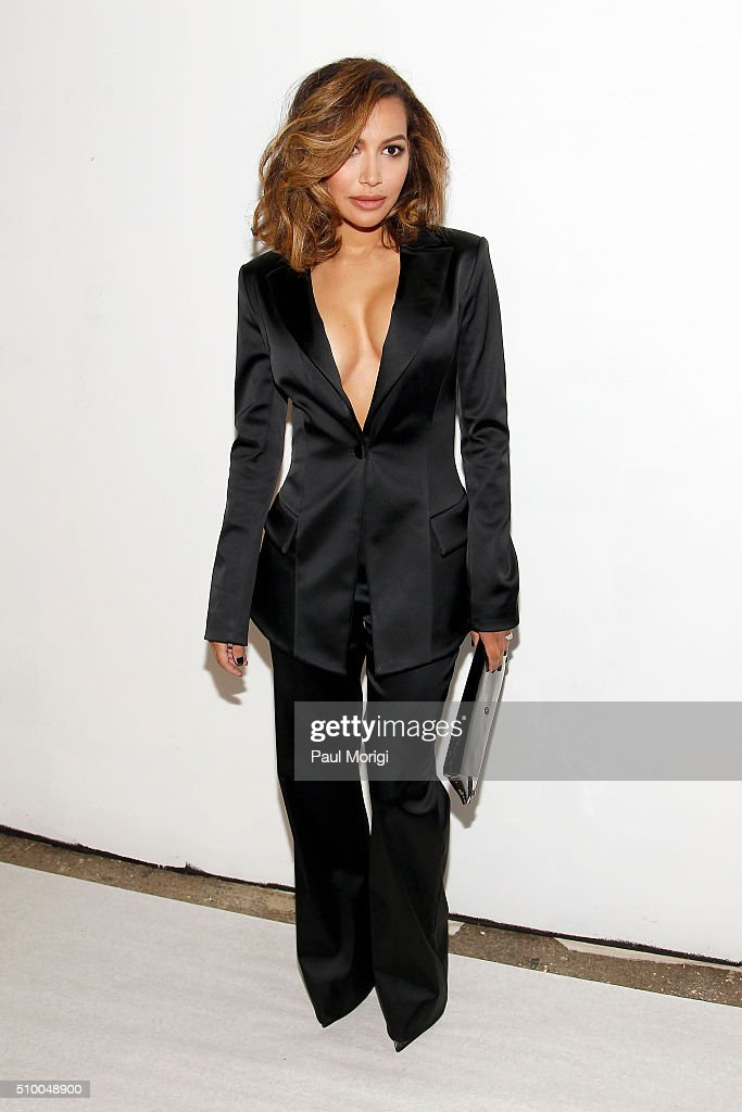 Actress <a gi-track='captionPersonalityLinkClicked' href=/galleries/search?phrase=Naya+Rivera&family=editorial&specificpeople=5745696 ng-click='$event.stopPropagation()'>Naya Rivera</a> poses backstage at the Christian Siriano Fall 2016 fashion show during New York Fashion Week at ArtBeam on February 13, 2016 in New York City.