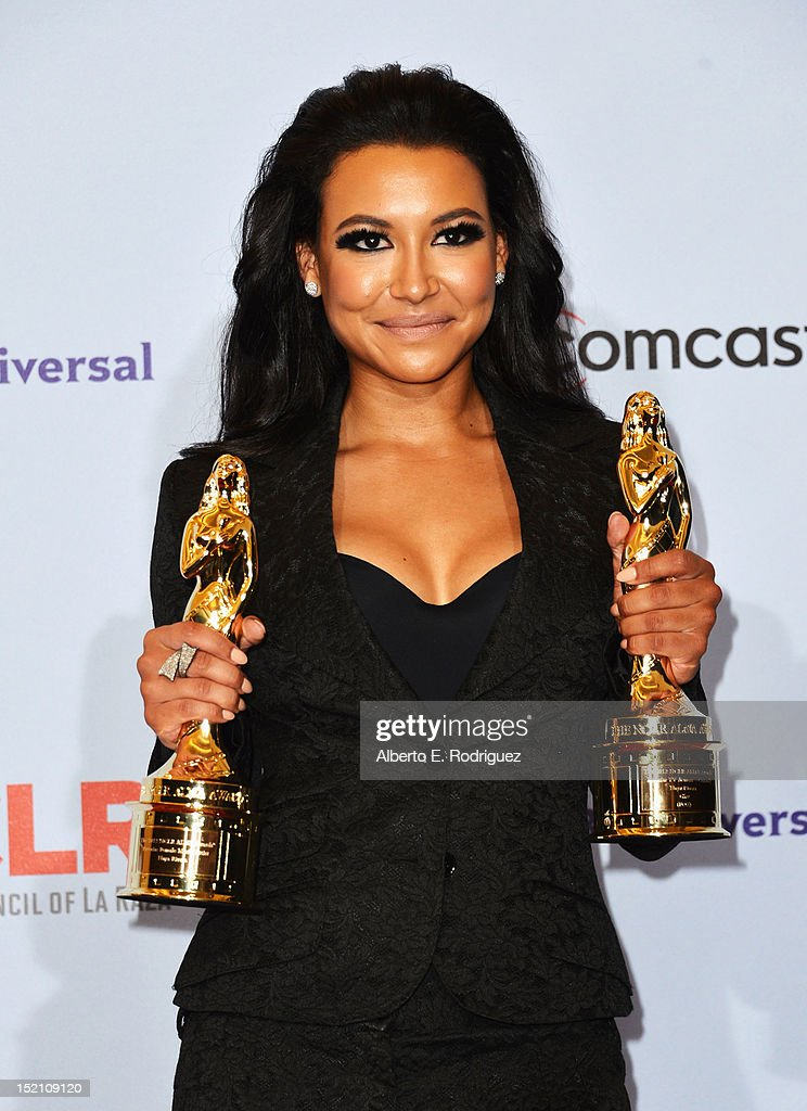 Actress <a gi-track='captionPersonalityLinkClicked' href=/galleries/search?phrase=Naya+Rivera&family=editorial&specificpeople=5745696 ng-click='$event.stopPropagation()'>Naya Rivera</a> poses in the press room during the 2012 NCLR ALMA Awards at Pasadena Civic Auditorium on September 16, 2012 in Pasadena, California.