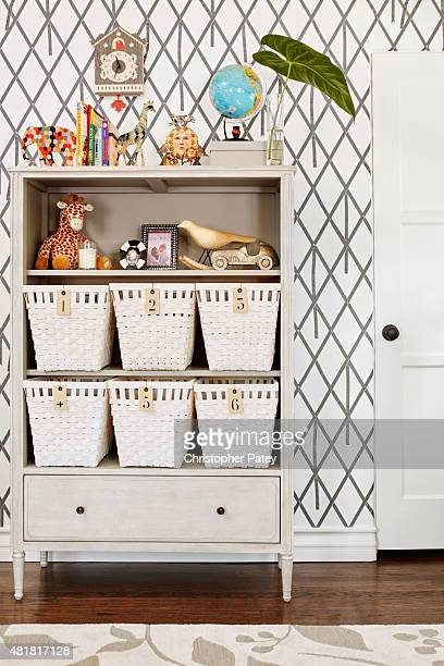 Actress Naya Rivera shows her soon to be born baby's nursery designed by Angelo Surmelis to Domaine Home photographed on June 8 2015 in Los Angeles...