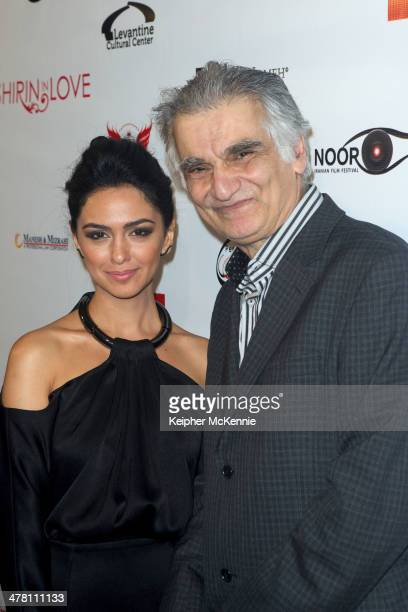Actress Nazanin Boniadi and director Ramin Niami attend the 'Shirin In Love' Los Angeles premiere at Avalon on March 11 2014 in Hollywood California