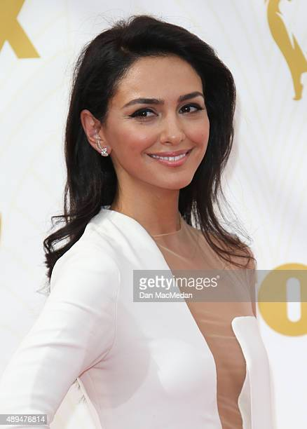 Actress Nazanin Boniadi arrives at the 67th Annual Primetime Emmy Awards at the Microsoft Theater on September 20 2015 in Los Angeles California