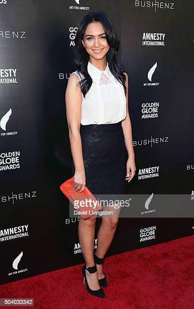 Actress Nazanin Boniadi attends Amnesty International USA's Inaugural Art for Amnesty PreGolden Globes Recognition Brunch at Chateau Marmont on...