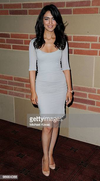 Actress Nazanin Boniadi attends the gala honoring legendary director Reza Badiyi on his 80th birthday at Royce Hall on the UCLA Campus on April 25...