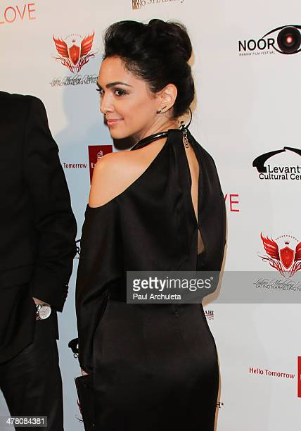 Actress Nazanin Boniadi attends the premiere of 'Shirin In Love' at Avalon on March 11 2014 in Hollywood California