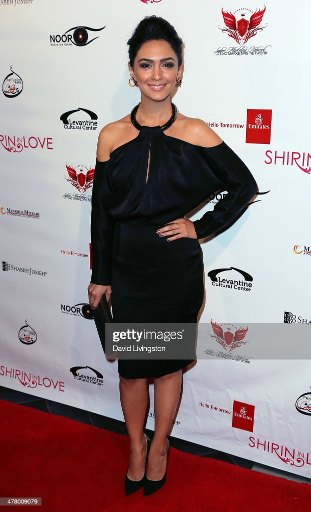 Actress <a gi-track='captionPersonalityLinkClicked' href=/galleries/search?phrase=Nazanin+Boniadi&family=editorial&specificpeople=4134137 ng-click='$event.stopPropagation()'>Nazanin Boniadi</a> attends the premiere of Sideshow Releasing's 'Shirin In Love' at Avalon on March 11, 2014 in Hollywood, California.