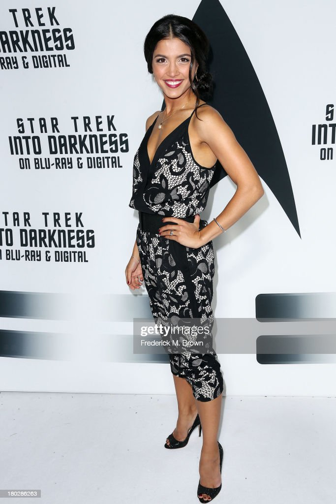 Actress Nazneen Contractor attends 'Star Trek Into Darkness' Blu-ray/DVD Release Event at the California Science Center on September 10, 2013 in Los Angeles, California.