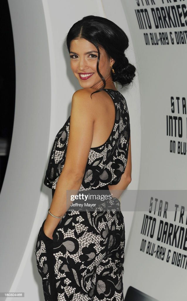 Actress Nazneen Contractor attends the Paramount Pictures' celebration of the Blu-Ray and DVD debut of 'Star Trek: Into Darkness' at California Science Center on September 10, 2013 in Los Angeles, California.