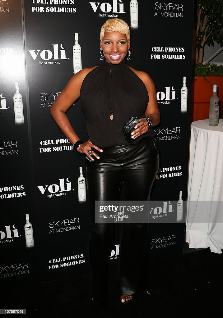 Actress NeNe Leakes attends the Cell Phones For Soldiers charity event sponsored by Voli Light Vodka at Sky Bar in the Mondrian Hotel on December 6, 2012 in West Hollywood, California.