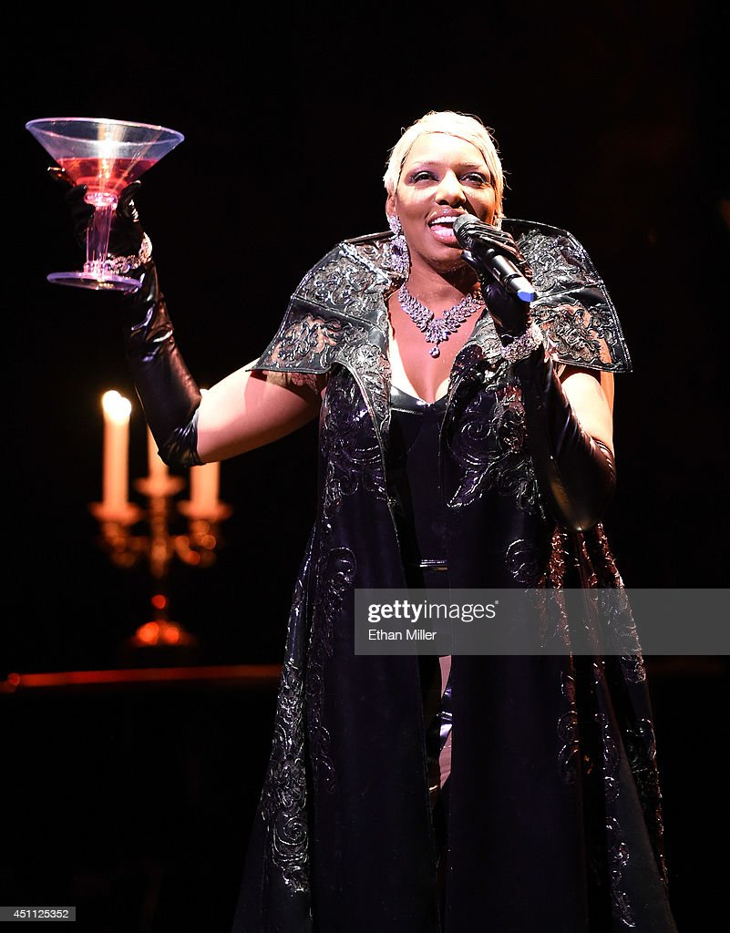 Actress NeNe Leakes performs during a preview for her 10show guest engagement as 'The Mistress of Sensuality' in 'Zumanity The Sensual Side of Cirque...