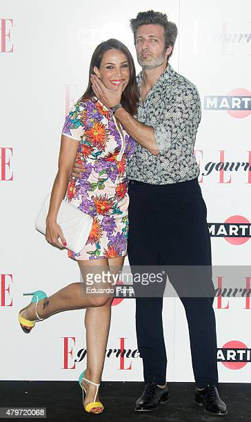 Actress Nerea Garmendia and actor Jesus Olmedo attend Elle Gourmet Awards photocall at Italian Embassy on July 6 2015 in Madrid Spain