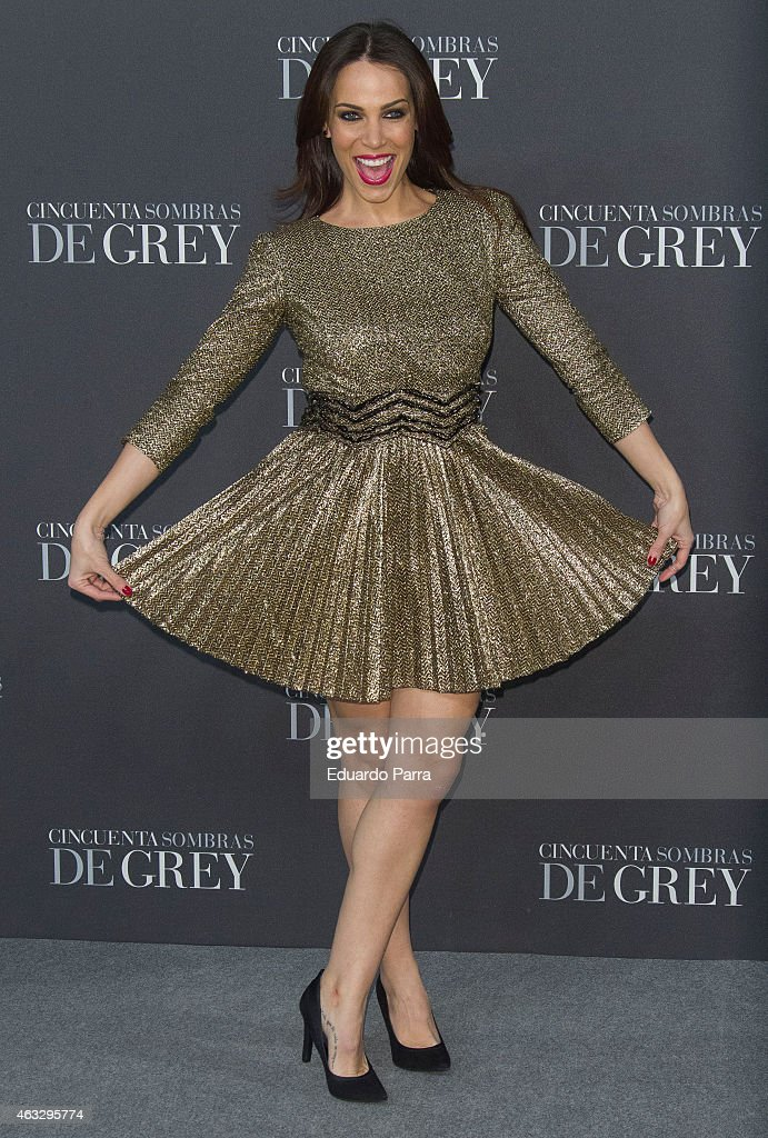 Actress Nerea Garmendia attends '50 Shades of Grey' premiere at Callao City Lights cinema on February 12 2015 in Madrid Spain