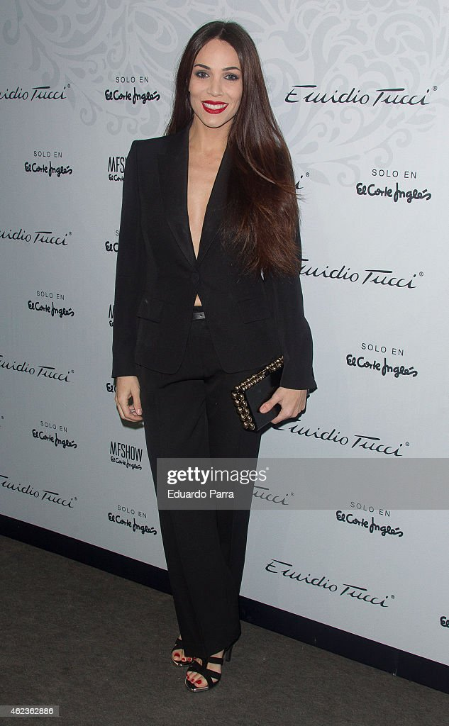 Actress Nerea Garmendia attends Emidio Tucci fashion show photocall at Price circus on January 27 2015 in Madrid Spain