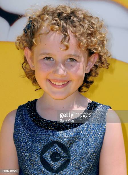 Actress Nev Scharrel attends the premiere of Universal Pictures And Illumination Entertainment's 'Despicable Me 3' at The Shrine Auditorium on June...
