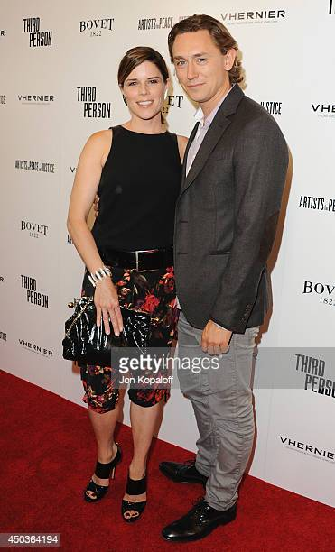 Actress Neve Campbell and actor JJ Feild arrive at the Los Angeles Premiere 'Third Person' at Linwood Dunn Theater at the Pickford Center for Motion...