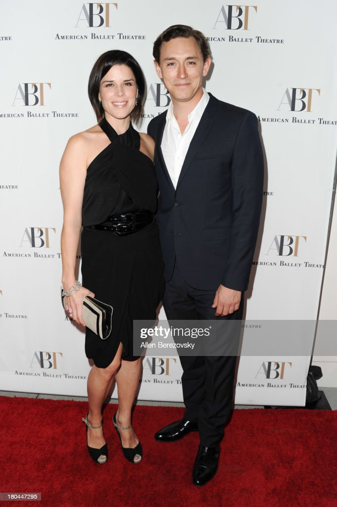 Actress <a gi-track='captionPersonalityLinkClicked' href=/galleries/search?phrase=Neve+Campbell&family=editorial&specificpeople=202239 ng-click='$event.stopPropagation()'>Neve Campbell</a> and actor J.J. Feild attend American Ballet Theatre's annual 'Stars Under The Stars: An Evening In Los Angeles' event on September 12, 2013 in Hollywood, California.