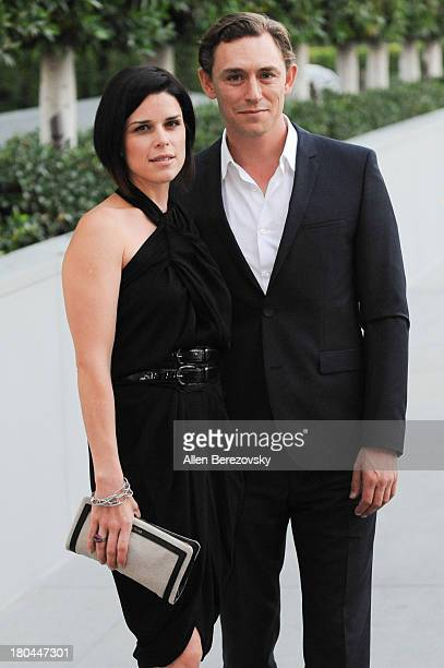 Actress Neve Campbell and actor JJ Feild attend American Ballet Theatre's annual 'Stars Under The Stars An Evening In Los Angeles' event on September...