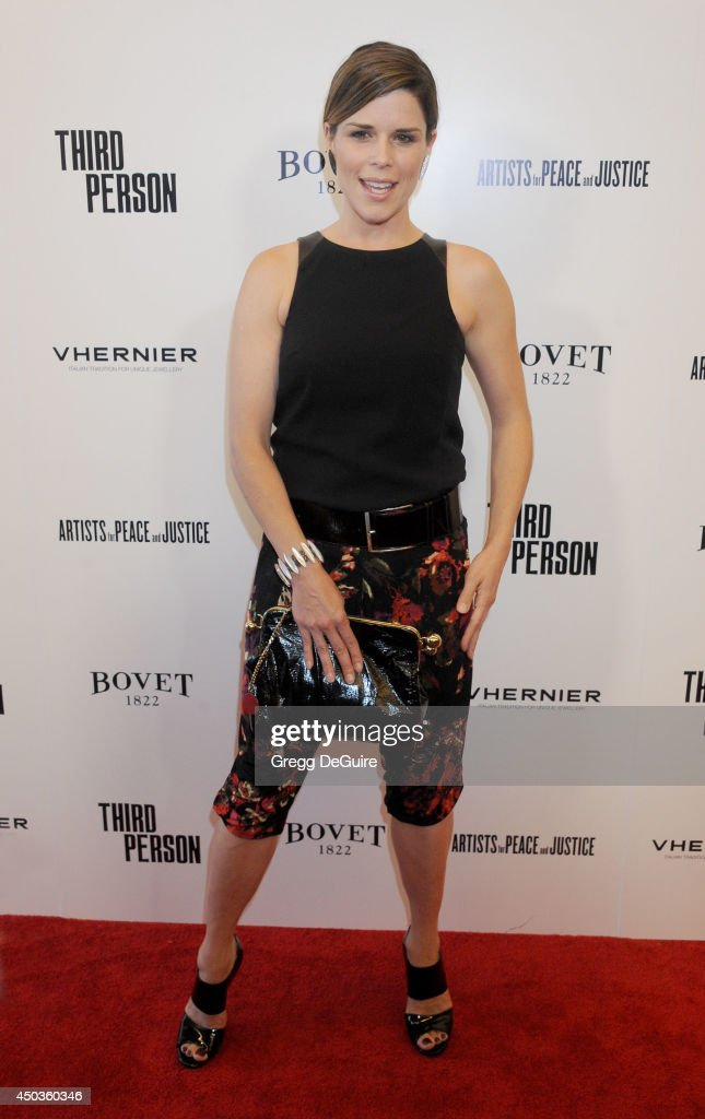Actress <a gi-track='captionPersonalityLinkClicked' href=/galleries/search?phrase=Neve+Campbell&family=editorial&specificpeople=202239 ng-click='$event.stopPropagation()'>Neve Campbell</a> arrives at the Los Angeles premiere of 'Third Person' at Pickford Center for Motion Study on June 9, 2014 in Hollywood, California.