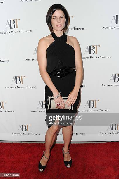 Actress Neve Campbell attends American Ballet Theatre's annual 'Stars Under The Stars An Evening In Los Angeles' event on September 12 2013 in...