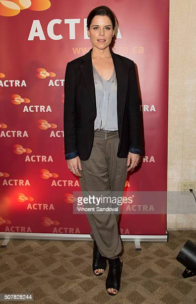 Actress Neve Campbell attends the 2016 ACTRA National Award of Excellence at The Beverly Hilton Hotel on January 31 2016 in Beverly Hills California