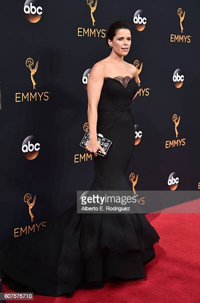 Actress Neve Campbell attends the 68th Annual Primetime Emmy Awards at Microsoft Theater on September 18 2016 in Los Angeles California