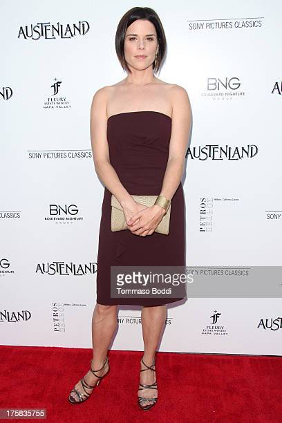 Actress Neve Campbell attends the 'Austenland' Los Angeles premiere held at ArcLight Hollywood on August 8 2013 in Hollywood California