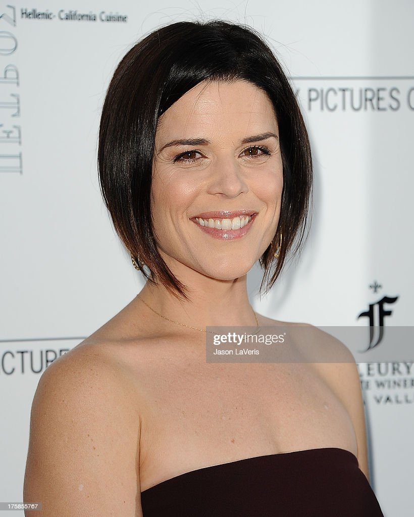 Actress <a gi-track='captionPersonalityLinkClicked' href=/galleries/search?phrase=Neve+Campbell&family=editorial&specificpeople=202239 ng-click='$event.stopPropagation()'>Neve Campbell</a> attends the premiere of 'Austenland' at ArcLight Hollywood on August 8, 2013 in Hollywood, California.
