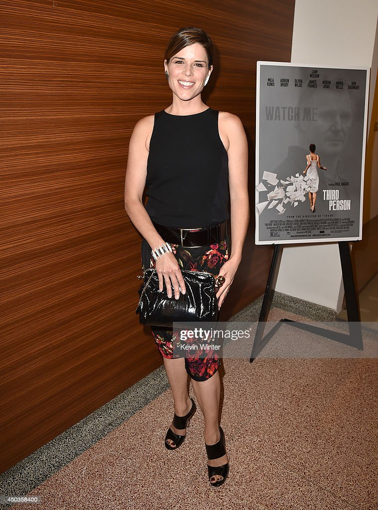Actress <a gi-track='captionPersonalityLinkClicked' href=/galleries/search?phrase=Neve+Campbell&family=editorial&specificpeople=202239 ng-click='$event.stopPropagation()'>Neve Campbell</a> attends the premiere of Sony Picture Classics' 'Third Person' at Linwood Dunn Theater at the Pickford Center for Motion Study on June 9, 2014 in Hollywood, California.