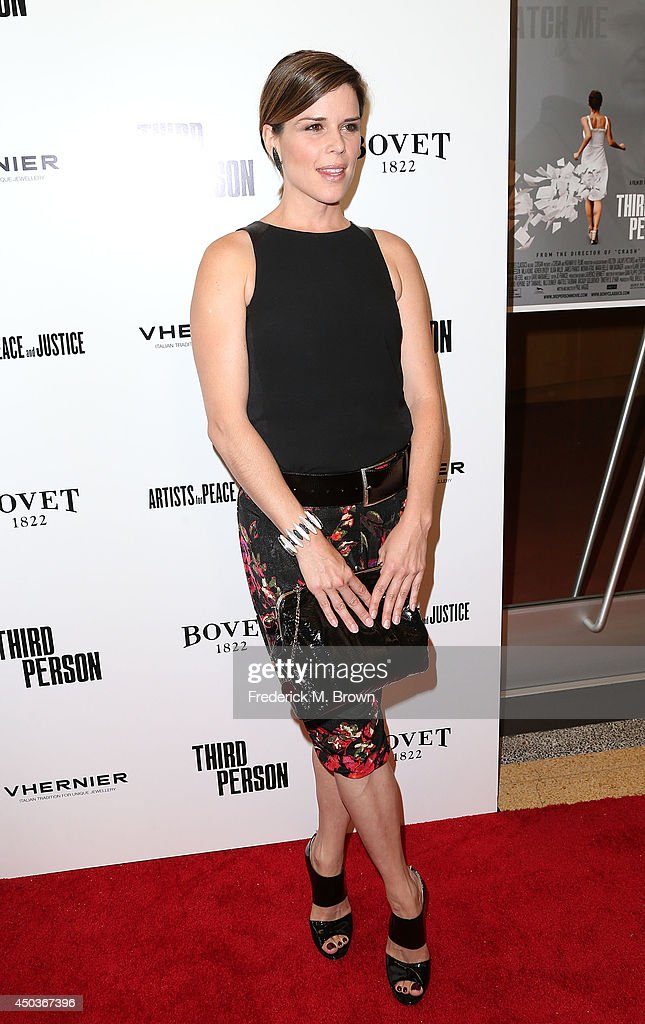 Actress <a gi-track='captionPersonalityLinkClicked' href=/galleries/search?phrase=Neve+Campbell&family=editorial&specificpeople=202239 ng-click='$event.stopPropagation()'>Neve Campbell</a> attends the premiere of Sony Picture Classics' 'Third Person' at the Linwood Dunn Theater Pickford Center for Motion Study on June 9, 2014 in Hollywood, California.