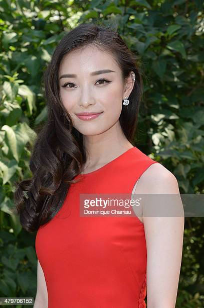 Actress Ni Ni attends the Christian Dior show as part of Paris Fashion Week Haute Couture Fall/Winter 2015/2016 on July 6 2015 in Paris France