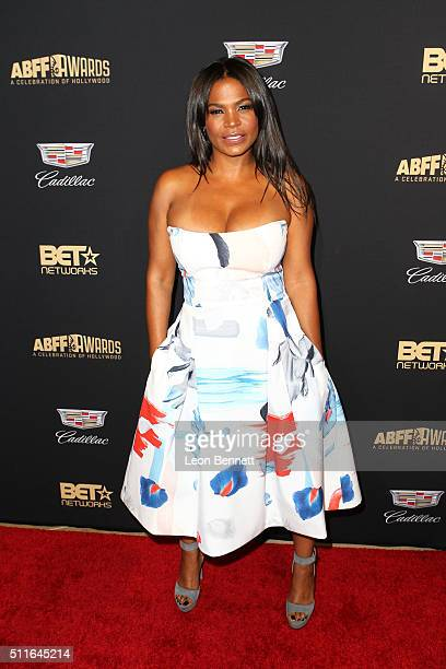 Actress Nia Long arrived to the 2016 American Black Film Festival Awards Gala Arrivals at The Beverly Hilton Hotel on February 21 2016 in Beverly...
