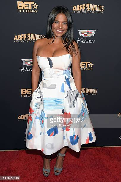 Actress Nia Long attends the 2016 ABFF Awards A Celebration Of Hollywood at The Beverly Hilton Hotel on February 21 2016 in Beverly Hills California