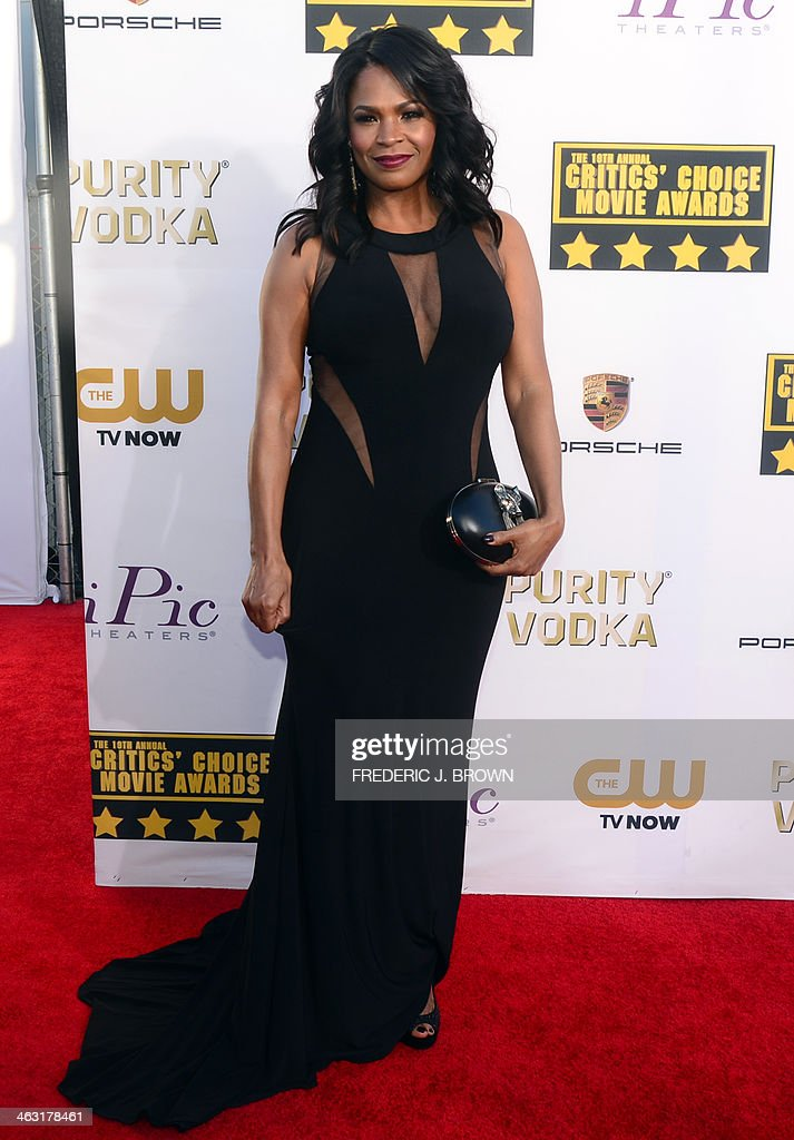 Actress Nia Long poses during red carpet arrivals for the Critic's Choice Awards in Santa Monica, California on January 16, 2014. AFP PHOTO/Frederic J. BROWN