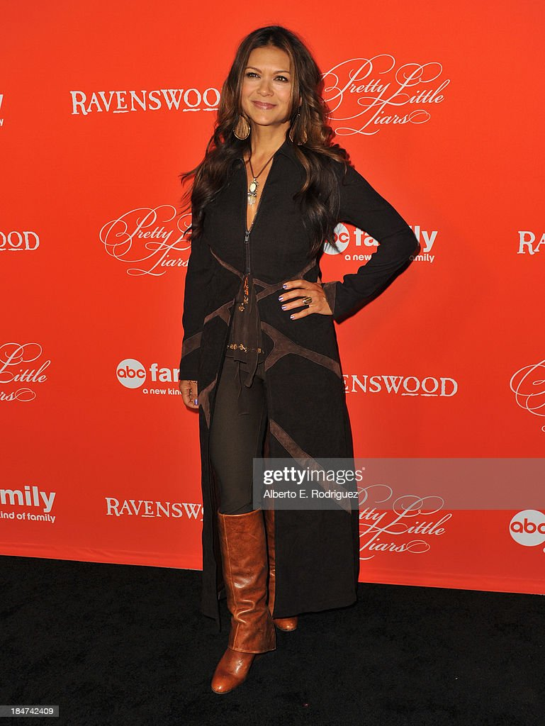 Actress Nia Peeples attends a screening of ABC Family's 'Pretty Little Liars' Halloween episode at Hollywood Forever Cemetery on October 15, 2013 in Hollywood, California.