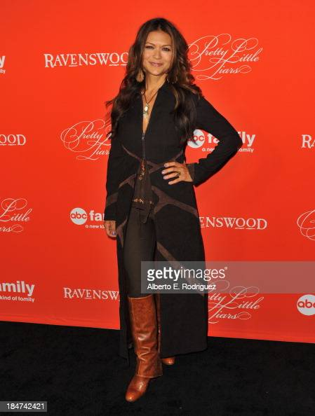 Actress Nia Peeples attends a screening of ABC Family's 'Pretty Little Liars' Halloween episode at Hollywood Forever Cemetery on October 15 2013 in...
