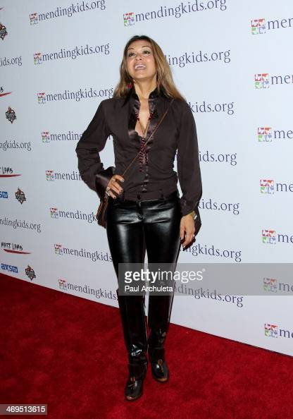 Actress Nia Peeples attends the Mending Kids International's 'Rock Roll AllStars' fundraising event on February 14 2014 in Hollywood California