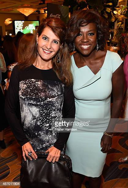Actress Nia Vardalos and Honoree Viola Davis attend the 2014 Variety Power of Women presented by Lifetime at Beverly Wilshire Four Seasons Hotel on...