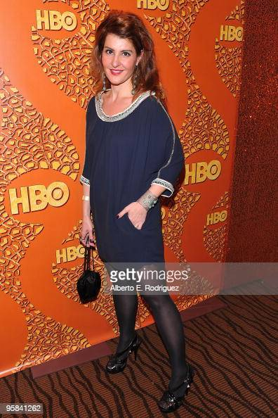 Actress Nia Vardalos arrives at HBO's Post Golden Globe Awards Party held at Circa 55 Restaurant at The Beverly Hilton Hotel on January 17 2010 in...