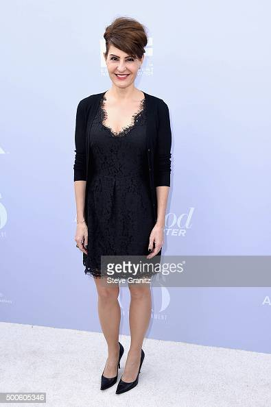 Actress Nia Vardalos attends the 24th annual Women in Entertainment Breakfast hosted by The Hollywood Reporter at Milk Studios on December 9 2015 in...